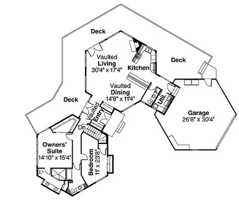 trio of linked hexagonal units 72572da architectural