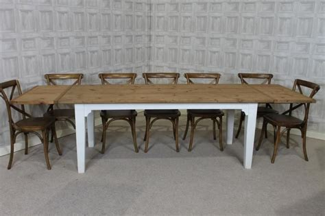 pine extending dining table extending farmhouse table with an oak top and a painted