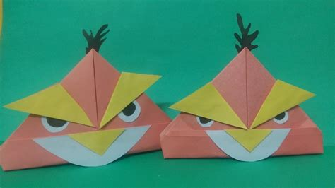 Angry Birds Origami - how to make angry bird origami paper angry bird paper