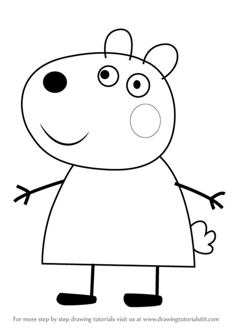 peppa pig drawing templates suzy sheep peppa pig coloring pages sketch coloring page