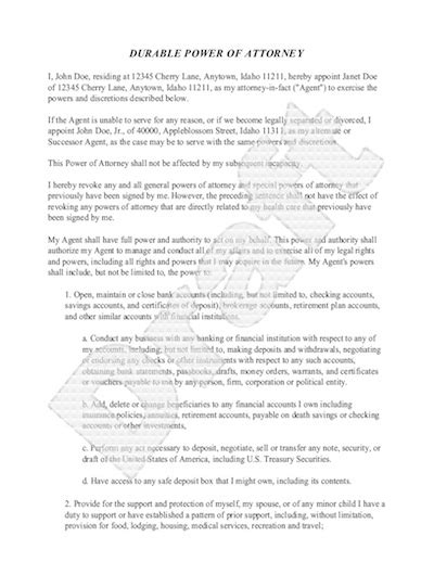Divorce Letter To Bank Sle Power Of Attorney Form Free Power Of Attorney Letter Sle