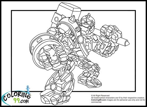 skylanders giants tree rex coloring pages hicoloringpages