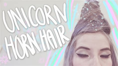 How To Make A Unicorn Horn Out Of Paper - diy unicorn horn hair tutorial
