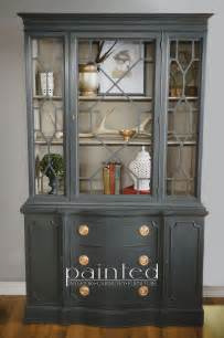 china cabinet painted with sloan chalk paint in
