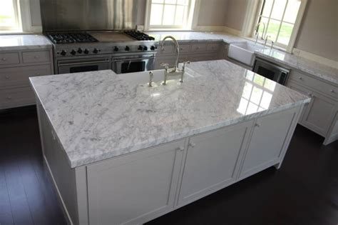 Kitchen Islands With Stainless Steel Tops by White Carrera Marble Countertop Globe Bath Amp Kitchen