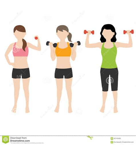 Dumbell Fitness fitness with dumbell stock vector image 60145400