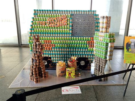 canstruction students design and build colossal canstruction 2017 all over albany