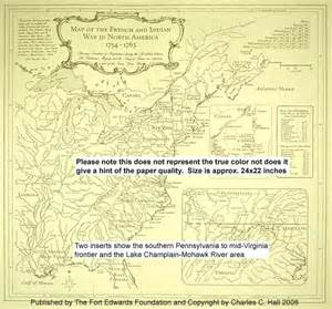 america 1754 map maps of the and indian war