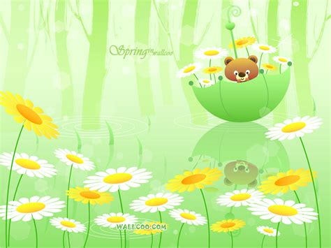 wallpaper cute spring variasi pena korean spring background wallpaper