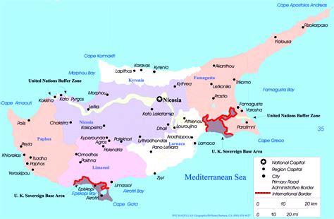 cyprus map map cyprus