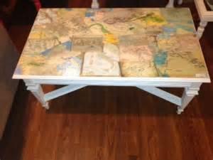 Coffee Table Decoupage Vintage Decoupage Coffee Table