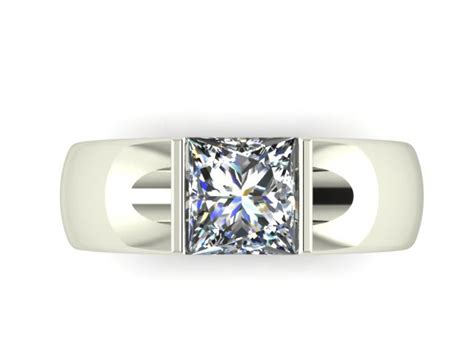 wide modern engagement ring dallas shapiro diamonds