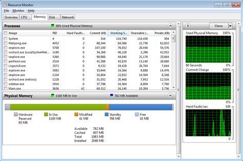 Ram Windows 7 investigate memory usage with windows 7 resource monitor techrepublic