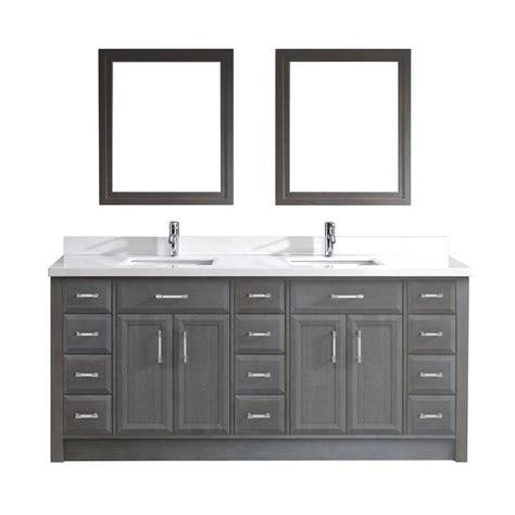 Studio Bathe Vanity by Studio Bathe Calais 75 In Vanity In Gray With