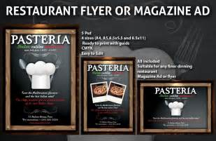 restaurant advertisement template restaurant magazine ads or flyers template 6 psdbucket