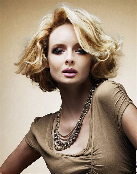 saks hairstyles gallery a medium blonde hairstyle from the intensive naturals