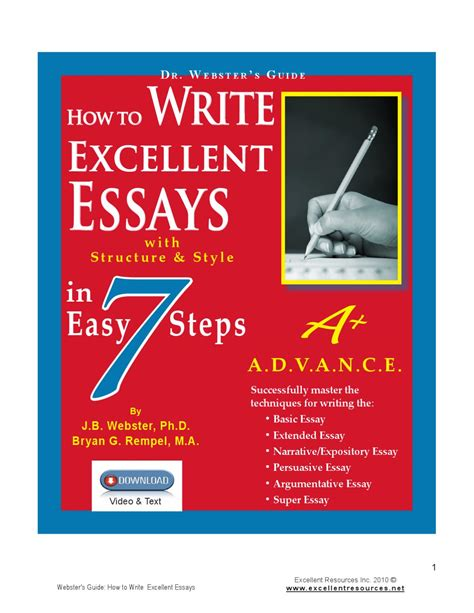How To Write A Excellent Essay by How To Write Excellent Essays In 7 Easy Steps By Bev Rempel Issuu