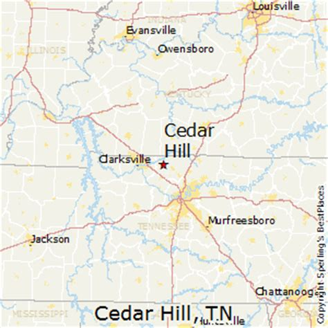 map of cedar hill best places to live in cedar hill tennessee