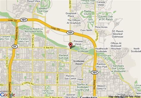 us map scottsdale arizona map of residence inn by marriott scottsdale scottsdale