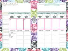 Cute Planner Templates Gallery For Gt Cute Weekly Homework Planner Template
