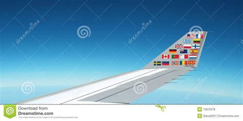 flags of the world x plane international flags plane panorama above the sky royalty