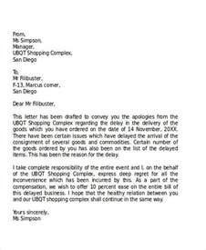 Explanation Letter Of Tardiness Formal Apology Letters