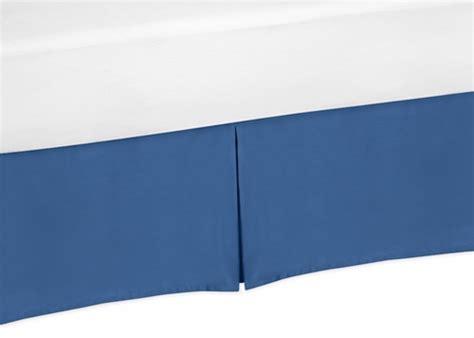 king bed skirt for blue and white trellis bedding sets