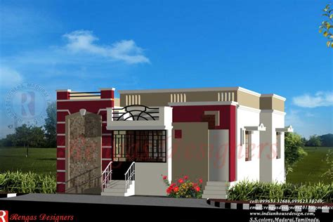 Single Floor House Front Design, simple one story houses