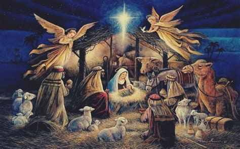 christmas with jesus this year jesus lights religion painting christianity hd