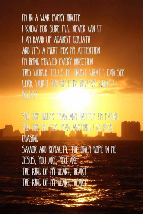 Spirit Of My King king of my lyrics and the outcome spirit