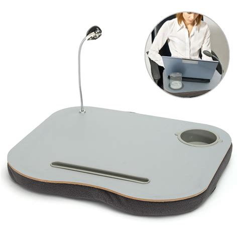 Laptop Knee Desk New Portable Laptop Desk Bed Laptop Cushion Knee Computer Reading Table Tray Cup Holder New