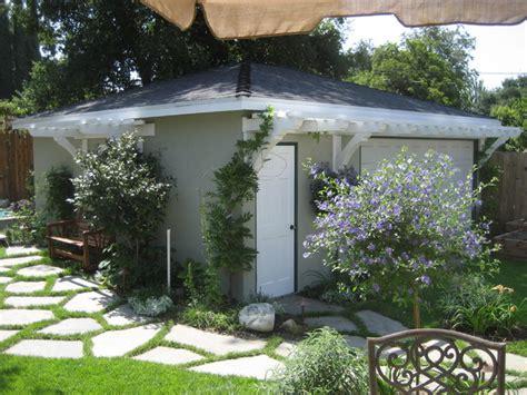 Landscaping Ideas Garage Area D Urso Landscape Design Contemporary Garage And Shed