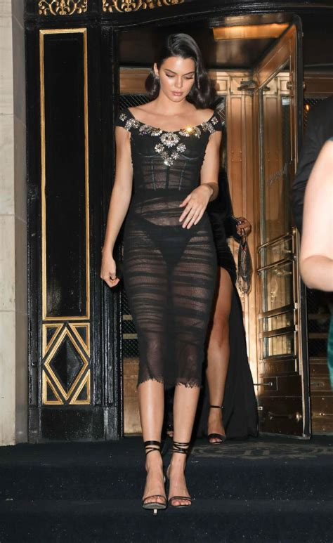 Wears A by Kendall Jenner Wears Transparent Dress Out In New