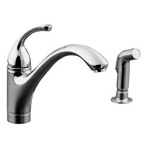 kohler faucets kitchen shop kohler forte polished chrome 1 handle low arc kitchen