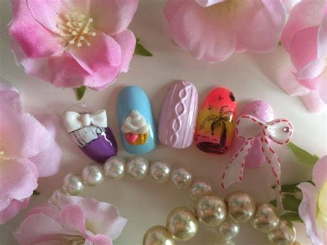 3d nail art tutorial acrylic japanese nail art tutorial 3d acrylic cupcake youtube