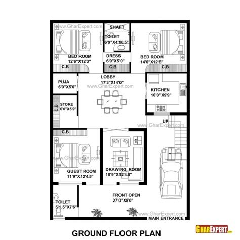 30 x 30 sq ft home design delightful house plan for 35 feet 50 feet plot plot size
