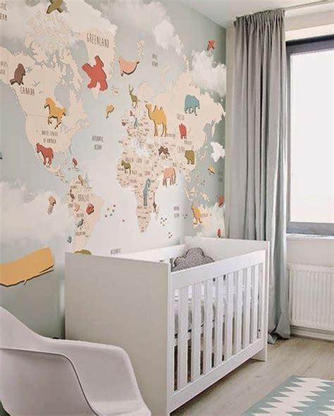 papel pintado para habitacion de bebe papel pintado de mapas para cuarto de beb 233 01 papel