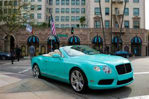 Light Blue Bentley Convertible Beverly Dealer Commissions Themed Bentleys