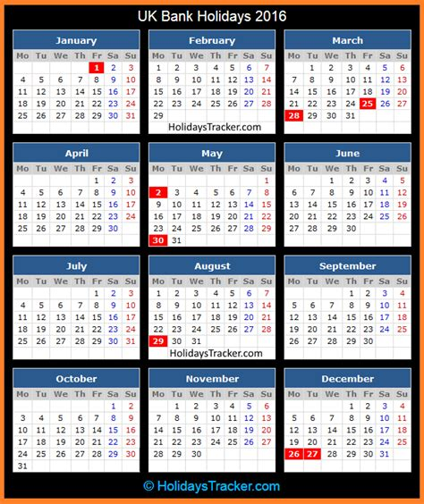 printable calendar 2015 uk with bank holidays uk bank holidays 2016 holidays tracker