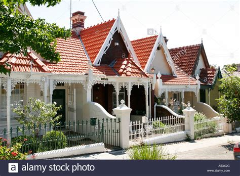 rent to buy houses sydney row of victorian terrace houses in the trendy area of paddington a stock photo