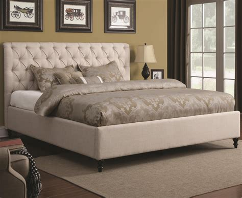 width of california king bed coaster 300403kw beige california king size fabric bed