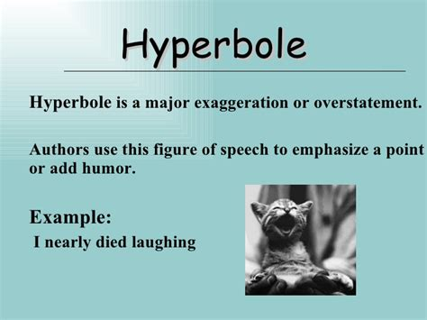 exle of hyperbole figure of speech