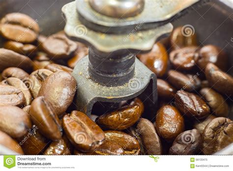Old fashioned Manual Coffee Grinder Stock Photo   Image: 56133475