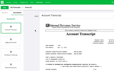 how does a tax transcript look like new feature pull irs transcripts in as little as 2