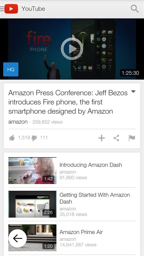amazoncom youtube appstore  android