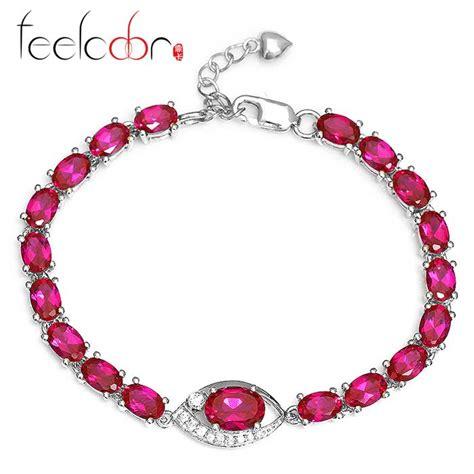 Ruby 9 85ct aliexpress buy 9 85ct ruby bracelet tennis link
