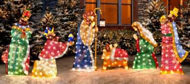 outdoor lighted decorations sale nativity decorations