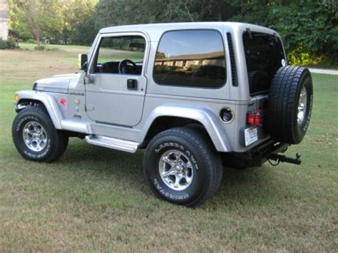 2001 Jeep Wrangler Mpg Buy Used 2001 Jeep Wrangler 60th Edition Mileage 53