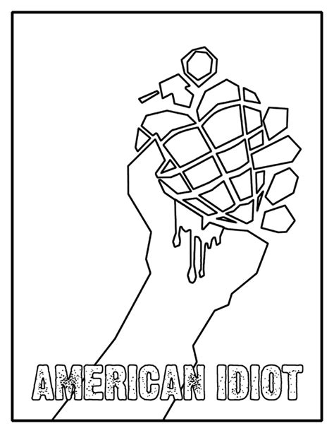 american idiot coloring page by kelly42fox on deviantart