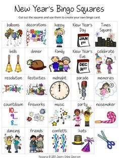 new year picture bingo 1000 images about crafts and senior activities on